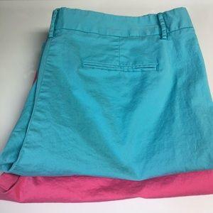 J. Crew 8 Bundle of 2 Bermuda Shorts